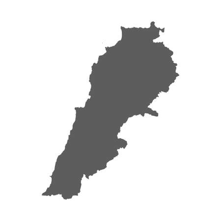 Vector map of lebanon. High precision accurately map