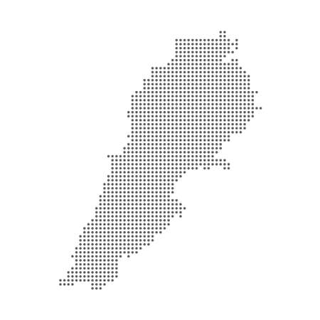 Abstract map of Lebanon dotted polka dot particle. Vector illustration eps10