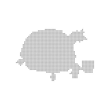 Dotted map of Minsk. Vector Ilustrace