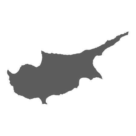 High detailed vector map of Cyprus on white background Ilustrace