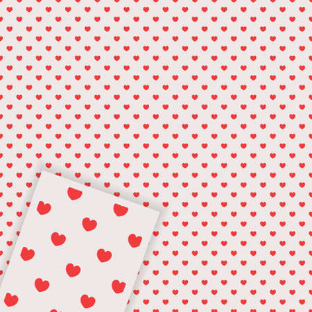 Heart cute seamless pattern. Valentines Day background.