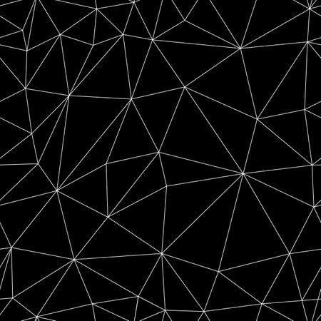 Vector seamless background. Triangulation. Polygonal mesh. Spider mesh. Loop texture.