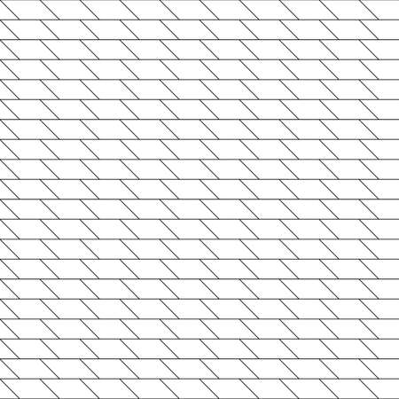 Zigzag lines seamless pattern. Angled jagged stripes ornament. Linear waves motif. Vector grid Ilustrace