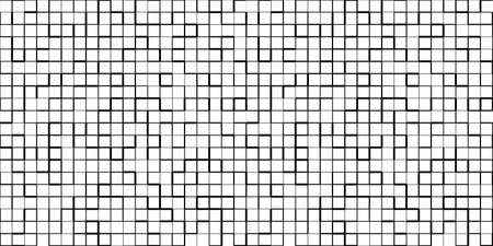 Seamless vector pattern in random lines square grid. Ilustrace