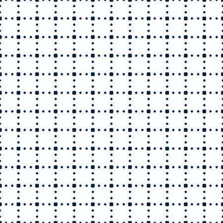 seamless pattern of shapes of different sizes forming a dotted grid.