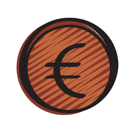 Illustration of a euro coin Çizim