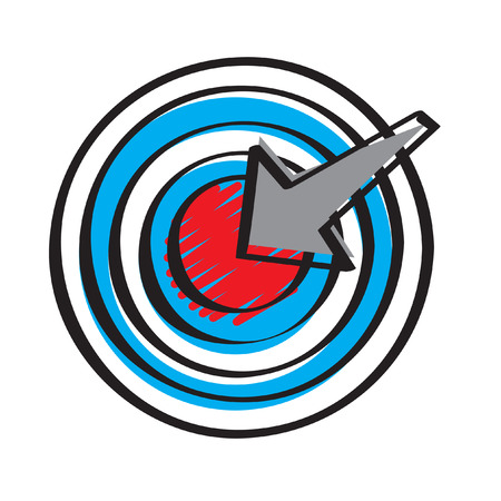 Illustration of a target and arrow