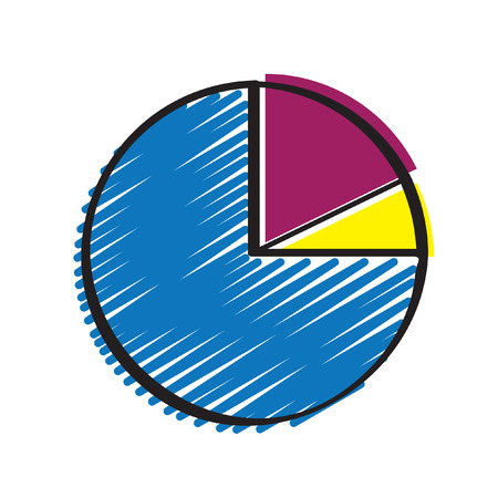 Illustration of a pie chart Ilustrace