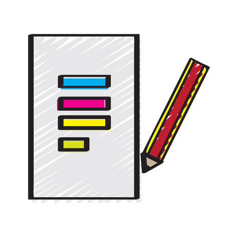 tabulation: Illustration of a paper and a pencil