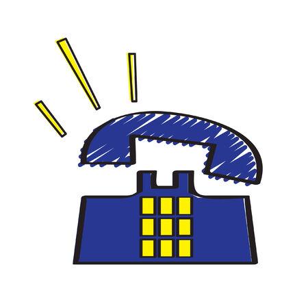 Illustratie van een rinkelende telefoon