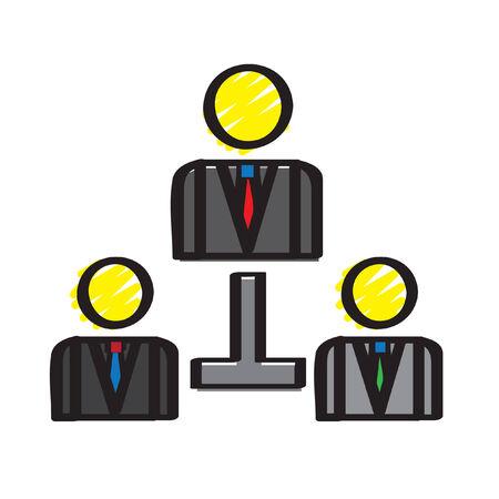 Illustration eines Organigramms Standard-Bild - 30932838