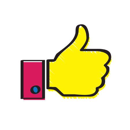 Illustration of a thumbs up Illustration