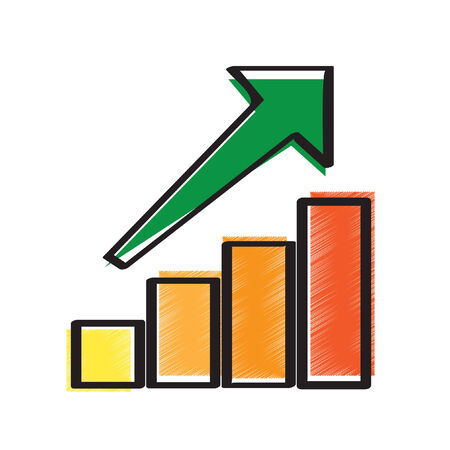 Illustration of an increasing bar graph Ilustrace