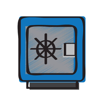 Illustration of a safe box Vector