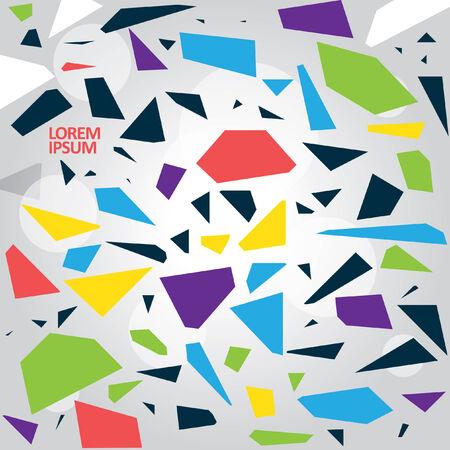 Abstract patroon met tekst Stock Illustratie