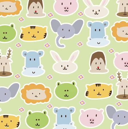 Cartoon animals background Vector