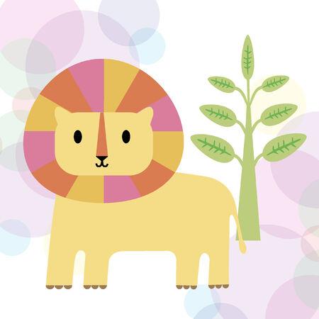 Illustration of a lion 向量圖像