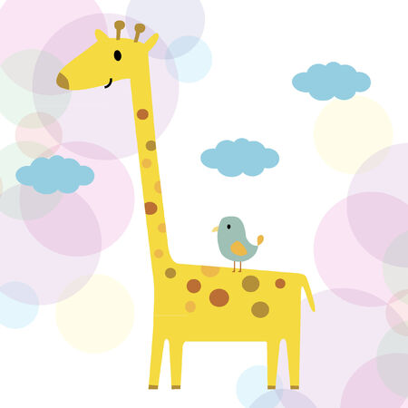 Illustration of a giraffe Vector