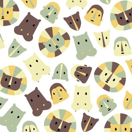 Illustrated cartoon animal print background Vector