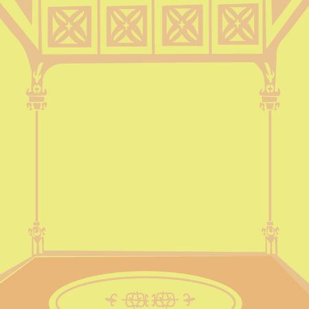 建物の内部  イラスト・ベクター素材