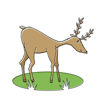 Illustratie van een rendier Stock Illustratie