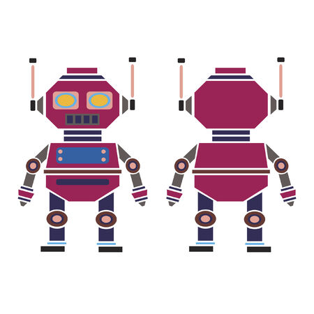 Ilustración de un robot Foto de archivo - 30966932