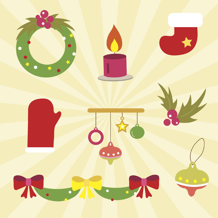 festive occasions: A set of christmas icons Illustration