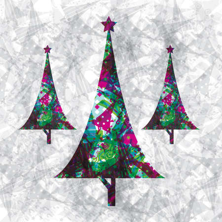 festive occasions: Illustration of christmas trees