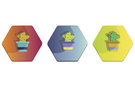 Illustration set of a cactus plant Фото со стока - 30974521