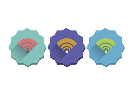Illustration set of wifi signal