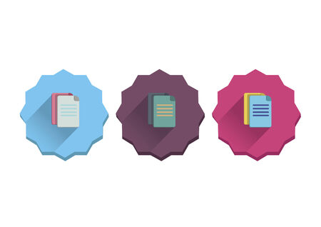 Illustratie set van documenten