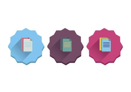 Illustration set of documents Vector