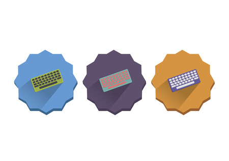 input device: Illustration set of computer keyboard