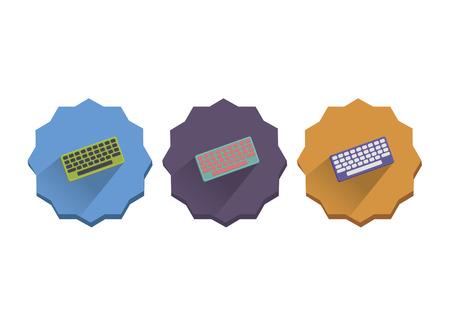 Illustration set of computer keyboard
