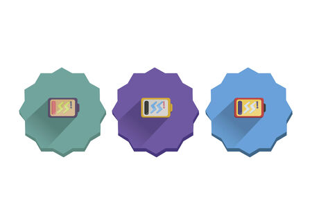 Illustration set of low battery icons Vector