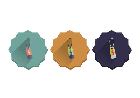 Illustration set of a price tag Vector