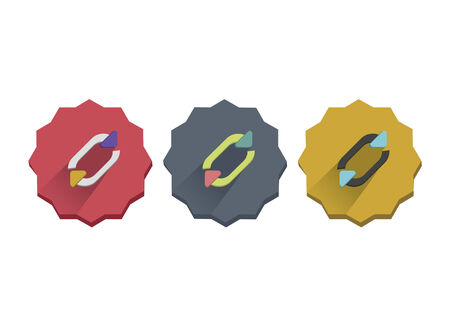 Illustration set of sync symbol Ilustração