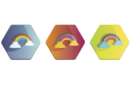Illustration set of rainbows