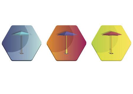 Illustration set of umbrellas Фото со стока - 30974668