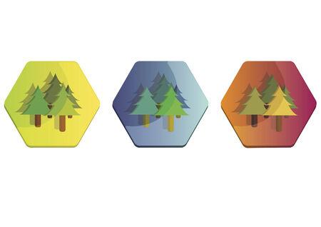 pine trees: Illustration set of pine trees Illustration