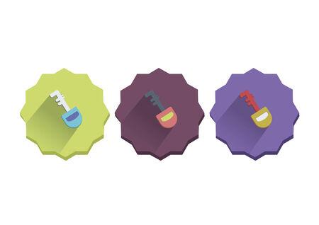 Illustration set of a key 向量圖像