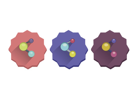 Illustration set of molecules