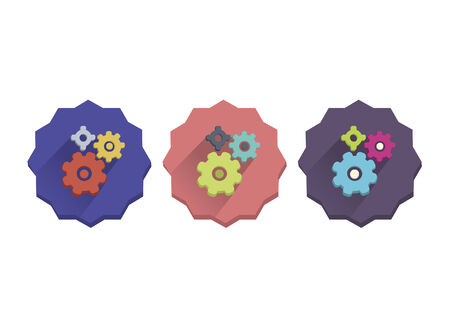 Illustration set of gears Vector