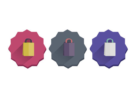 Illustration set of shopping bags
