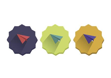Illustration set of a paper planes Illustration