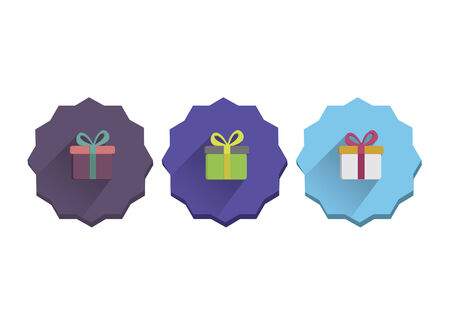 Illustration set of a present Vector