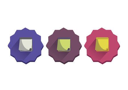 memo pad: Illustration set of a memo pad