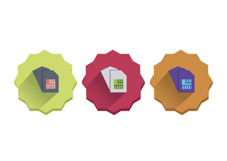 Illustration set of sim cards Vector
