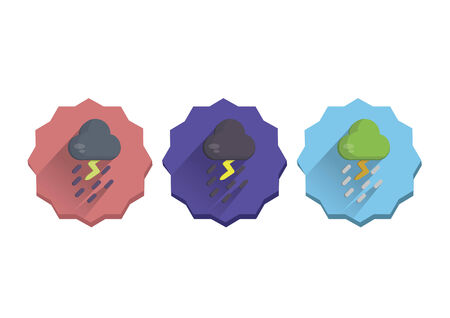 Illustration set of a stormy weather Vector