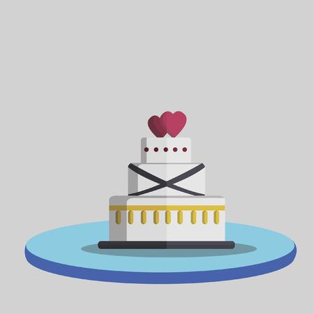 Illustration of a wedding cake Vector